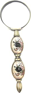 Value Arts Nautical Sea Turtle with Coral Reef Handle Magnifying Glass, Brass and Glass, 6 Inches Long