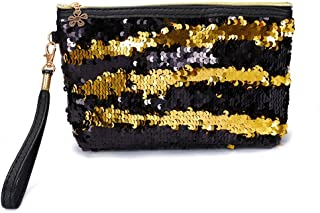 Flyme 1 pcs Cosmetic Bag New Sequins Cosmetic Bag Mermaid Sequins Clutch Bag Ladies Cosmetic Bag Flip Sequin Bag