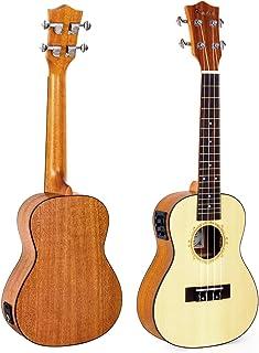 """Kmise Soild Spruce Ukulele 24"""" Electro-Acoustic Concert Ukulele UK-24B Hawaii Guitar"""