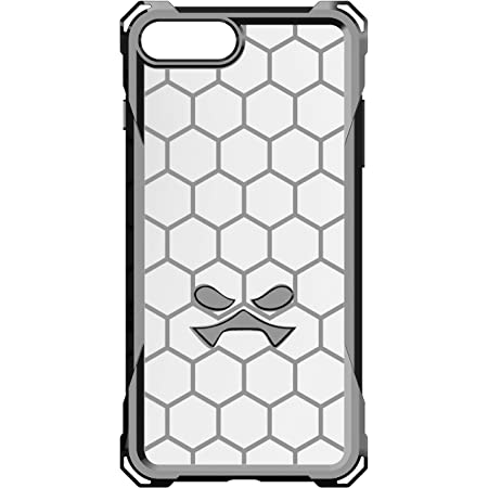 Ghostek Covert Thin iPhone 7 Plus, iPhone 8 Plus Case with Clear Honeycomb Design Shockproof Heavy Duty Protection Wireless Charging for 2017 iPhone 8 Plus, 2016 iPhone 7 Plus (5.5 Inch) - (Gray)