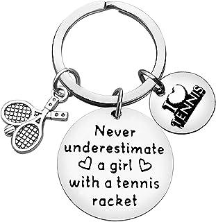 Tennis Lover Gift Keyring Tennis Gift Keychain for Girls Teens Tennis Girl Gift Tennis Player Gift Inspirational Gift for Tennis Girl Christmas Birthday Graduation Gift for Tennis Girl