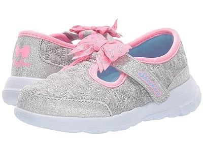 SKECHERS KIDS Go Walk Joy 81584N (Infant/Toddler/Little Kid) (Gray/Pink) Girl