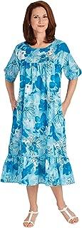 Muumuu Dress, Color Turquoise, Size Extra Large (1X), Turquoise, Size Extra Large (1X)