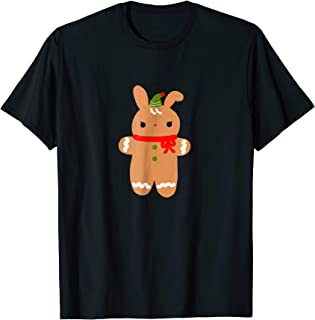Cute Bunny Gingerbread Cookie Graphic T-Shirt