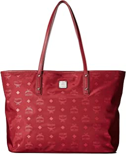 MCM - Dieter Monogrammed Nylon Top Zip Medium Shopper
