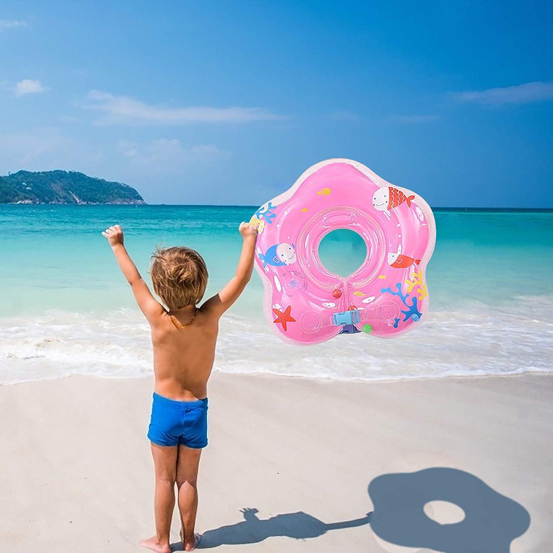 Baby Schwimmring,Aufblasbar Baby Schwimmkragen,Schwimmhilfe Ring,Schwimmsitz f/ür Kinder ab 6 bis 30 Monate Blue, L