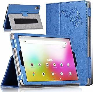 【E-COAST】 VASTKING KingPad K10/K10 Pro 10インチ 専用ケース 保護カバー スタンド可能 ハンドストラップ付 (ブルー)
