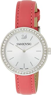 Swarovski Daytime Women's Silver Dial Leather Band Watch - 5187561