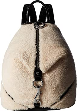 Shearling Julian Side Zip Backpack
