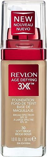 Revlon Age Defying 3X Foundation, Soft Beige, 30ml