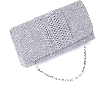 Kpasati Fashion Damen Clutch, Falten Abendgeschenktasche & Umhängetasche & Hardware Damenhandtasche & Kartenhalter