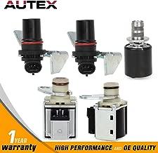 AUTEX 4L80E Compatible With 1994-UP GM Transmission Solenoid 5 Piece Set Input & Output Speed Sensor Kit EPC Shift 24230288 10478147