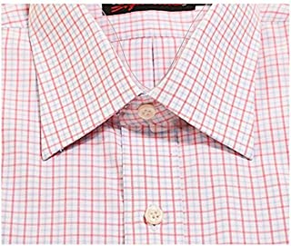 Kirkland Signature Men Casual Shirt 2XL Blue//Orange Plaid Non-iron Short Sleeve