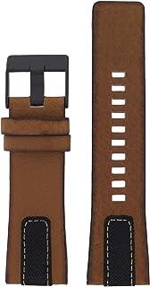 Diesel LB-DZ1600 Bracelet de rechange en cuir pour montre Diesel DZ 1600 Marron 27 mm