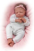 Cuddle Caitlyn With Warming Feature and Blanket - So Truly Real® Lifelike & Realistic Newborn Baby Doll 17-inches by The Ashton-Drake Galleries