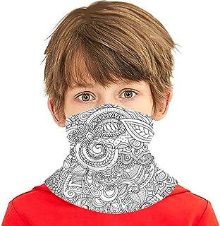 Verctor Doodle Zen Hand Drawn Zentangle Face Cover Bufanda Bufanda Bandanas Polaina para el Cuello para niños