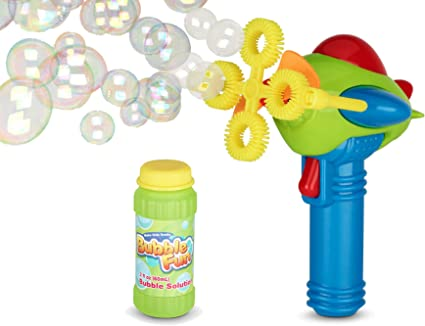 Wanna Bubbles Colorful Bubble Fan battery operated