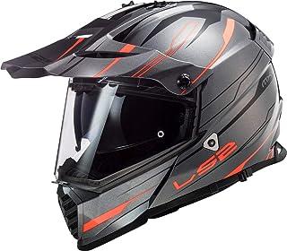 LS2 Motocross-Helm MX 436 Pioneer Evo Grau Gr. S