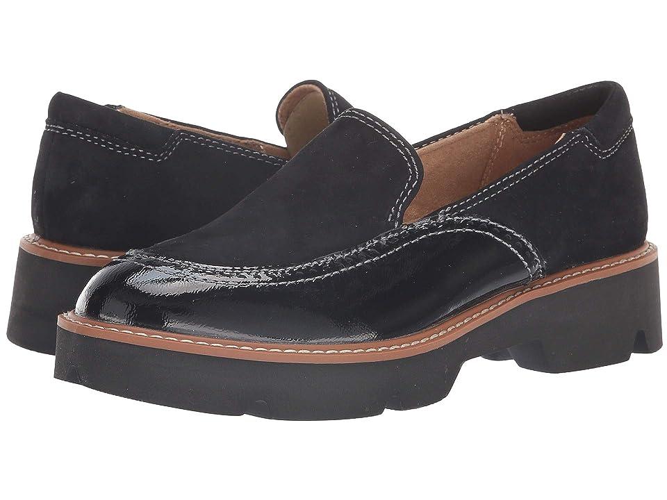 Naturalizer Lark (Black Suede/Patent Leather) Women