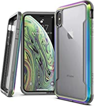 X-Doria Defense Shield Series, iPhone Xs Max - Military Grade Drop Tested, Anodized Aluminum, TPU, and Polycarbonate Protective Case for Apple iPhone Xs Max, 6.5 Inch Screen (Iridescent)
