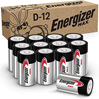 Energizer Max D Batteries, Premium Alkaline D Cell Batteries (12 Battery Count)
