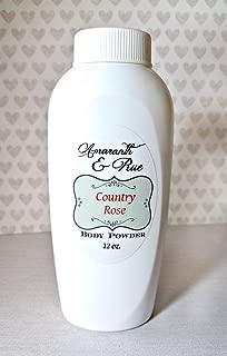 Natural Country Rose Body Powder 12 oz Amaranth & Rue