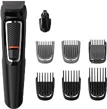 Philips Barbero MG3730/15 - Recortador de Barba y Precisión 8 en 1, Cuchillas autoafilables, Incluye Funda de Viaje, batería, negro