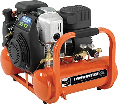 Industrial Air Contractor 4 Gallon Portable Pontoon Air Compressor with 5 HP Honda Gas Engine: image