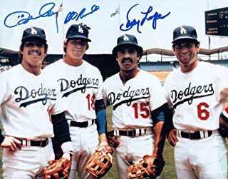 Ron Cey Lopes Bill Russell Signed Autographed 8X10 Photo Dodger Infield COA