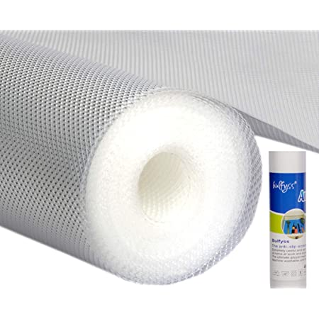 Bulfyss Multipurpose EVA Diamond Textured Super Strong Anti-Slip Mat Liner (Transparent White, 45 X 500 cm, 5 m Roll)