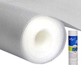 Bulfyss Multipurpose EVA Diamond Textured Super Strong Anti-Slip Mat Liner (Transparent White, 45 X 500 cm, 5 m Roll)