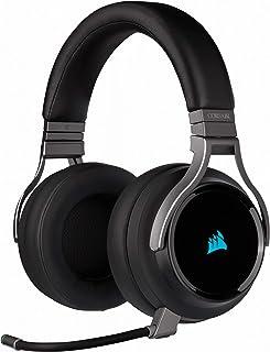 Corsair Virtuoso RGB Wireless High Fidelity Gaming Headset (Slipstream Technologie, 7.1 Surround Sound, iCUE RGB, für PC, Xbox One, PS4, Switch und Mobilgeräte) carbon