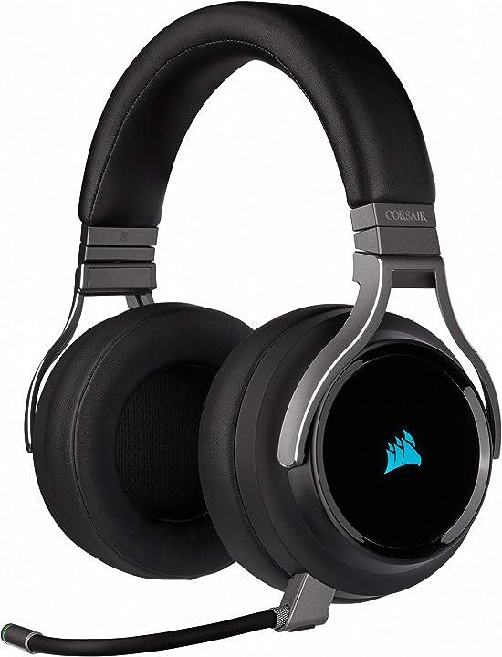 Cuffia gaming 7.1 surround audio corsair virtuoso rgb wireless alta fedeltà CA-9011185-EU