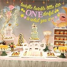 Yaaaaasss! Twinkle Twinkle Little Star Banner Girl 1st Birthday Party Decor