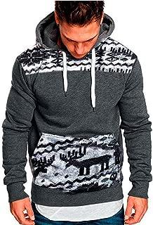 Mens Sweater Hoodie Sweatshirt Christmas Hooded Jumper Jacket Coat Outwear