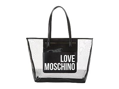 LOVE Moschino Mesh Tote Bag (Black) Handbags