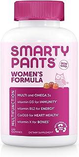 SmartyPants Women's Formula Daily Gummy Vitamins: Gluten Free, Multivitamin & Omega 3 Fish Oil (Dha/Epa), Methyl B12, vita...