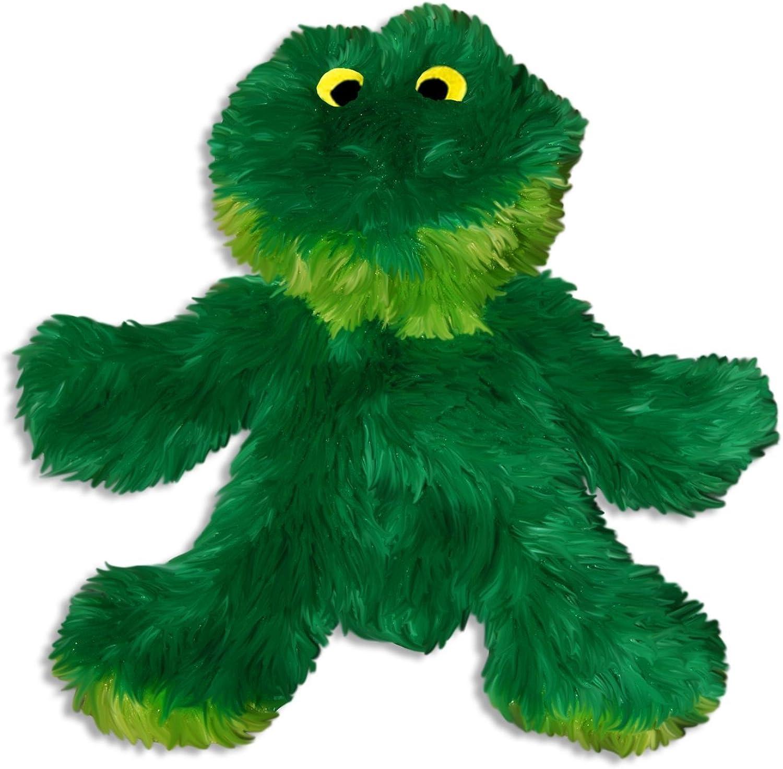 KONG Sitting Frog Dog Toy, Medium, Green (2Pack)