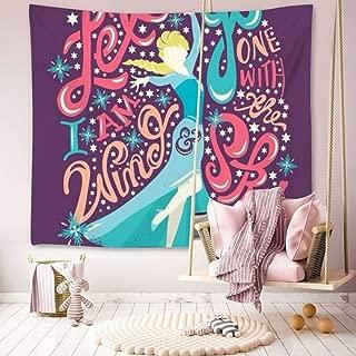 DISNEY COLLECTION Tapestry Disney Elsa Frozen Let It Go Princess Wallpaper Tapestry for Living Room Bedroom Dorm Home Decor 60 Inch51 Inch