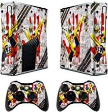 Skin for Xbox 360 Slim Sticker Decals for X360 Custom Cover Skins for Xbox360 Slim Modded Console Game Accessories Set Decal Stickers with 2 Wireless Remote Controllers - Ghost Ops