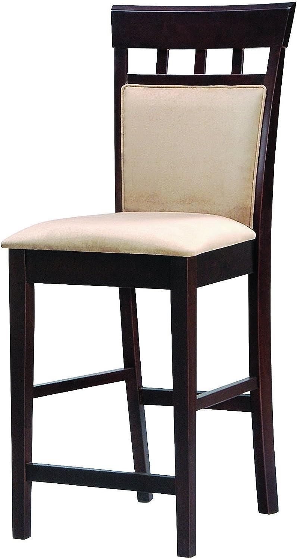 Coaster Home Furnishings 100219 Casual Bar Stool, 24 , Cappuccino, Set of 2