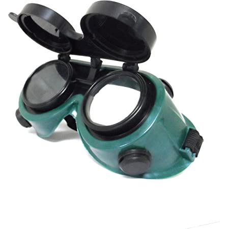 JSP Flip-up Gas Welding Goggles Eye Safety Protection Red M5KY#