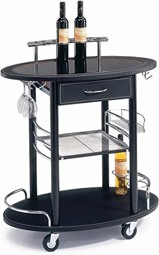 B00H92UGFQ✅New Spec WF40490 Minibar Serving Cart, Black