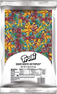 Trolli Sour Brite Octopus, 5 Pound Resealable Bulk Candy Bag Sour Gummy Candy