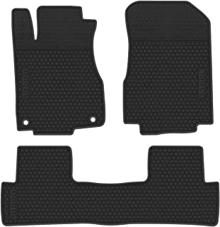 biosp Car Floor Mats Replacement for CRV CR-V 4th 2012 2013 2014 2015 2016 Front and Rear Seat Heavy Duty Rubber Liner Full Black Vehicle Carpet Custom Fit-All Weather Guard Odorless