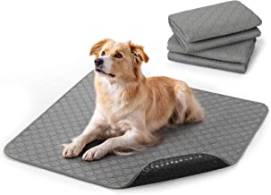 rabbitgoo Washable Pee Pads for Dogs 2 Pack, 89 x 82CM Large Washable Puppy Pads Waterproof Potty Training Pad Dog Mat Sup...