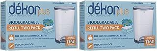 Diaper Dekor Plus 2 Packs Containing 2 Refills each (4 total refills) Biodegradable