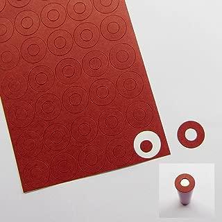 Kungfu Mall 200 Piezas de cartón 18650 aislantes de batería Aislante eléctrico Papel Adhesivo