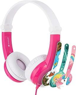 BuddyPhones - Non- Folable Explore Volume Limiting Headphones for Kids - Durable, Comfortable, Built in Headphone Splitter...