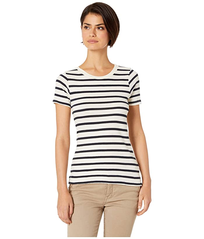 LAmade Franny Fitted Tee (Navy/Natural Stripe) Women
